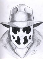 Rorschach Portrait Sketch by RogueDerek