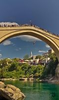 Jump from Old Bridge in Mostar by XanaduPhotography