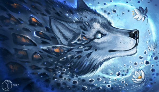 Ice and water by FlashW