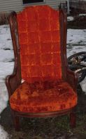 Old Orange Chair by Rubyfire14-Stock