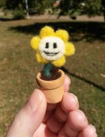 Potted Flowey by SnowFox102