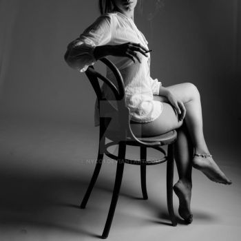 woman on chair 1 by Nyco1