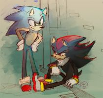 Sonic and shadow Reupload by MoniquePalmerine
