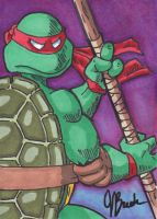 Sketch Card #3 - Donatello by destinyhelix