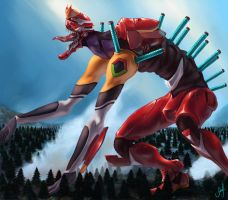 evangelion 2.0 beast mode by Xmagician20X