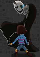 V.S W.D Gaster by QweXTheXEccentric