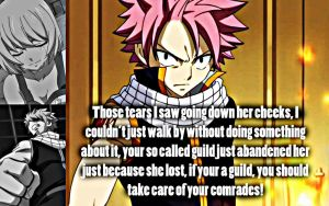 Natsu, Care For Your Comrades by Xela-scarlet