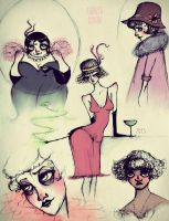 Flappers sketches by AndreeaIuliana
