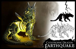 Catastrophic Earthquake Dragon by MelissaFindley
