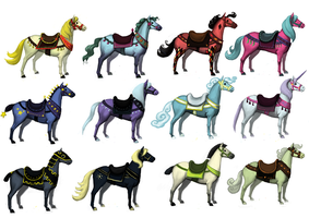 Carousel Horse Concepts by CavalierediSpade