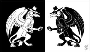 Gryph VS Gryph by Goldy--Gry
