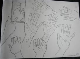 My own hand by artlady87