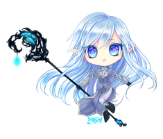 Chibi Commission: Shiorihikaru by CaramelCaprice