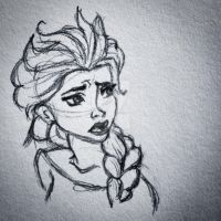 Elsa Concept Art Sketch 2 by littlewaysoul