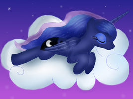Sleeping Luna by CarrotPonies