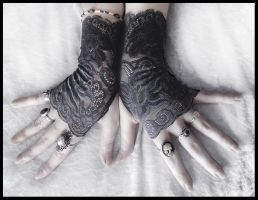Delphine Lace Fingerless Gloves by ZenAndCoffee
