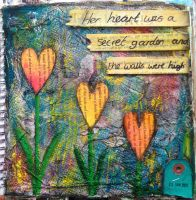 Secret Garden - Art Journal Page by ambrabealey