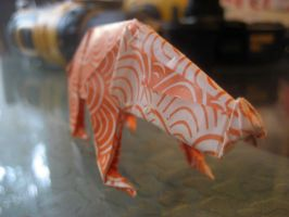 Origami Badger by musicmixer112