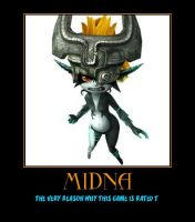 Zelda Midna demotivational poster by Dbgtinfinite