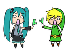 Miku vs Lenk by Iluvtoonlink