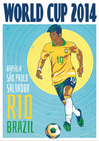 World Cup Poster 2014 - Neymar Jr [vector] by MattBowring