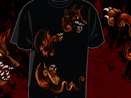 Fire Dog Tee by skulldog