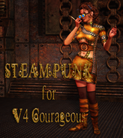 Steampunk Dress for V4 Courageous by mylochka