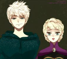Jelsa - Jack Frost and Elsa by SNOW-and-FROST