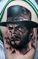 Clint Eastwood tattoo by Remistattoo