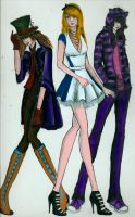 Alice In Wonderland Fashion by TheWalrusWasPaul