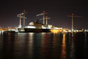 Shipyards at Night by DonLeo85