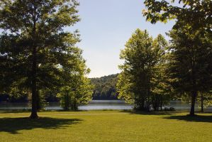 Spring Day at the Lake by JenniferSpriggs