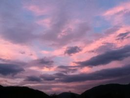 pink and blue cotton candy clouds by michal-boomr