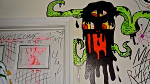 Monster on my door by MATTROSENART