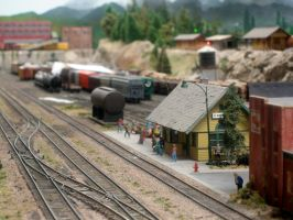 Model Train Station by paploothelearned