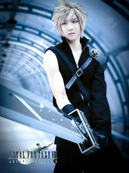 Cloud strife with buster sword cosplay by funnaejc