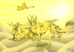 Every cloud has golden lining by Dreikaz
