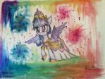 Purple Hued Horse With Rainbow Swirl Thingies by twilightsparkle09012