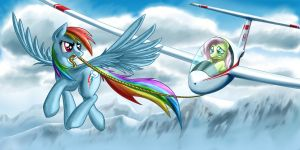 Rainbow Dash Aerotow by Pyrestorm