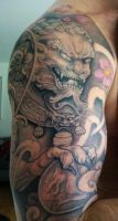 Foo Lion Tattoo by fell24