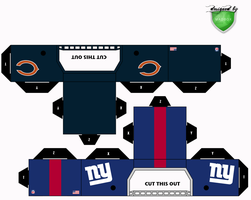 bears giants helmets by 1madhatter