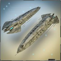 Heavy Battle Cruiser / Big Gunship by PINARCI