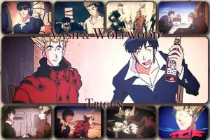 Vash and Wolfwood by Syleria11