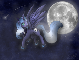MLP: Moonlight Flight by PaperLotus