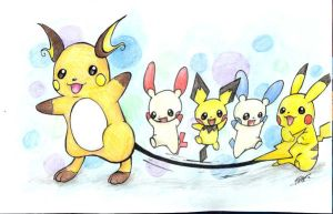 Pika-Friends by bandotaku