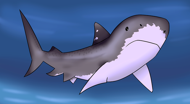 Sharkie the shark by Ladusence
