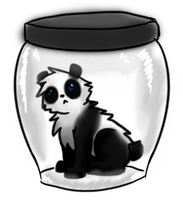 panda jar by darndragon