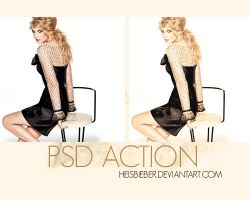 Taylor Swift PSD action by Heisbieber