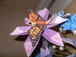 Origami Fairy on Flower by Dragongirl9888