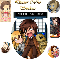 Stickers Doctor Who by AliceBlack19